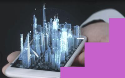 3d hologramski ekran za korisnike mobilnih telefona