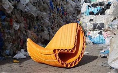 3d štampane sofe nastale od plastičnih kesa